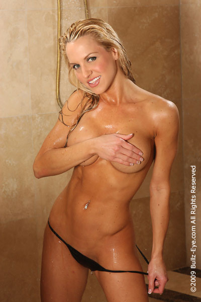 Erin Marie Garrett in the shower