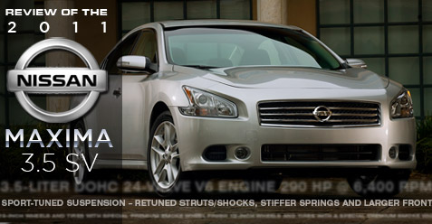 2011 Nissan Maxima 3.5 SV review.