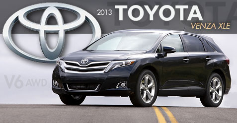 car review of the 2013 toyota venza xle 2013 toyota venza. Black Bedroom Furniture Sets. Home Design Ideas