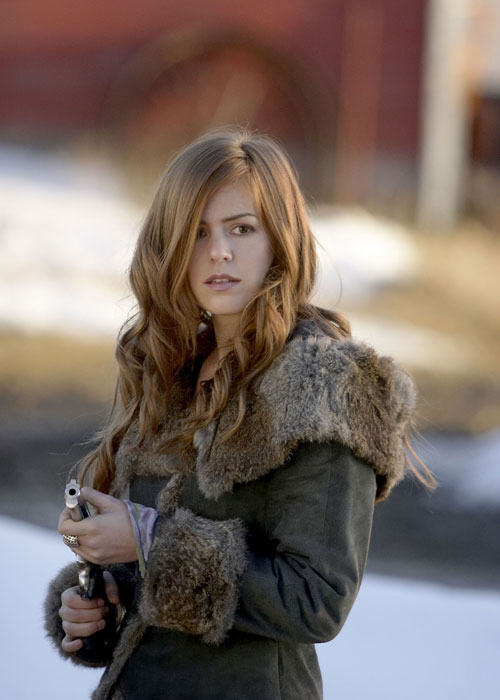 "Isla Fisher with a gun in ""The Lookout"""