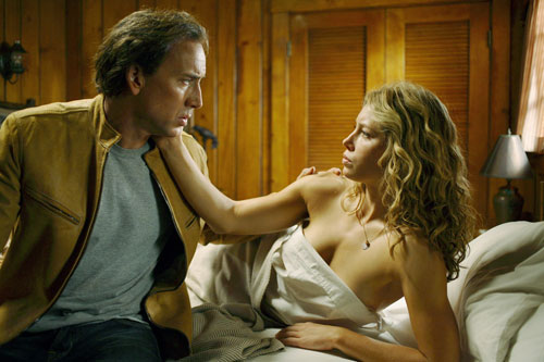 "Nicolas Cage and Jessica Biel in ""Next"""