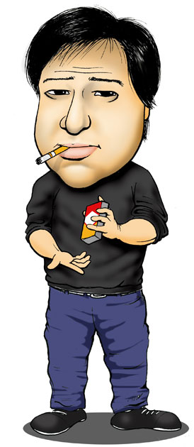 Bill Hicks caricature