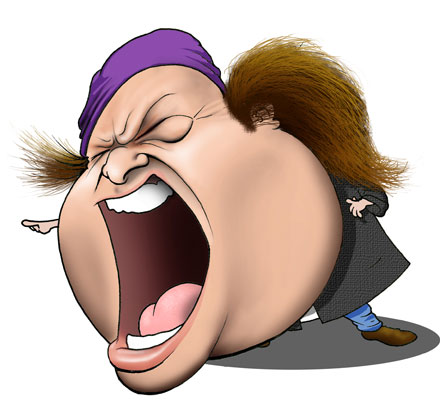 Sam Kinison caricature