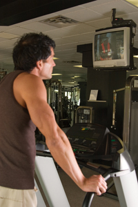 Guy on treadmill
