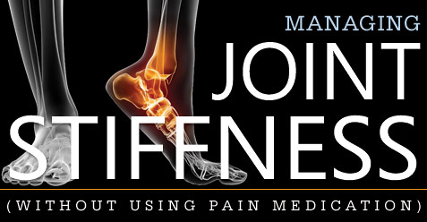 Managing joint stiffness without using pain meds