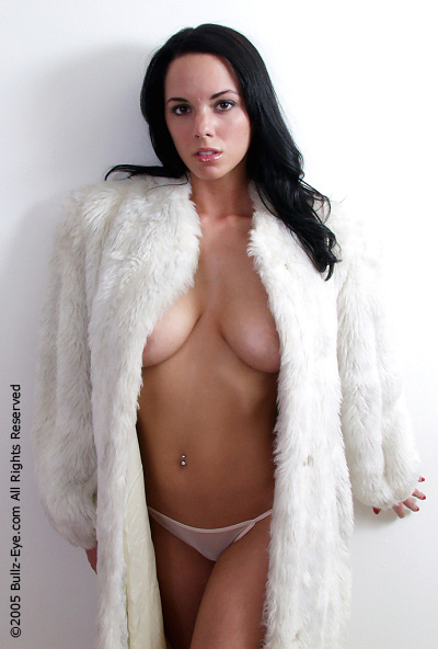 Sexy Miranda in a fur coat