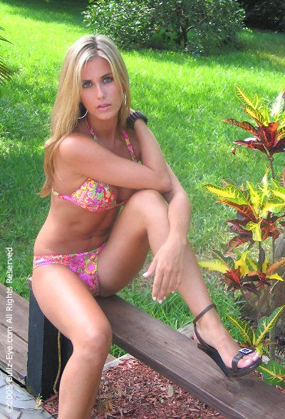 Natalie in flowery bikini