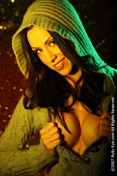 Laura in a hoodie