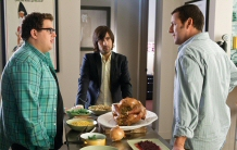 Jonah Hill, Jason Schwartzman, and Adam Sandler kvetch over turkey