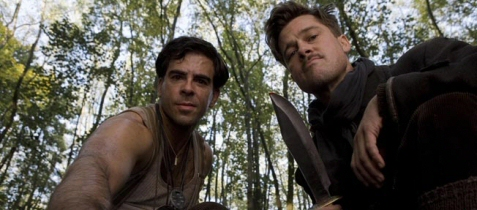 Brad Pitt and Eli Roth in