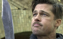 Brad Pitt contemplates his masterpiece.