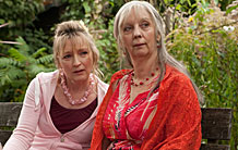 Lesley Manville and Ruth Sheen in
