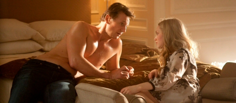 Liam Neeson is more naked, alas, than Amanda Seyfried in this shot from
