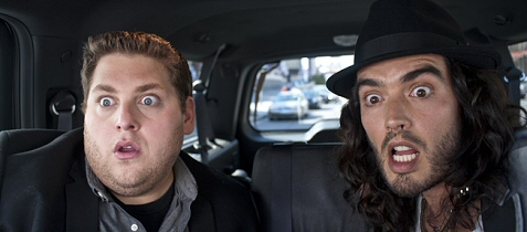 Russell Brand and Jonah Hill in