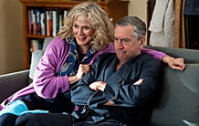 Robert De Niro and Blythe Danner don't look happy