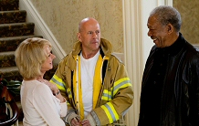 Helen Mirren, Bruce Willis, and Morgan Freeman look relieved in