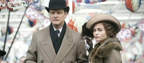 Colin Firth & Helana Bonham Carter contemplate a sticky wicket in