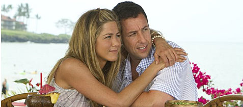 Adam Sandler and Jennifer Aniston in