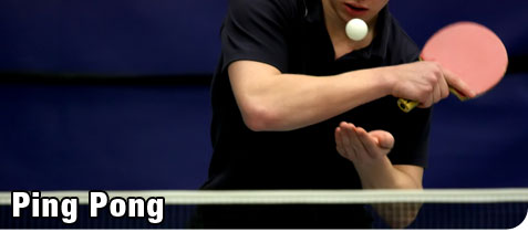 Young Man Serving During a Recreation Game of Ping Pong