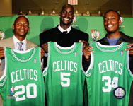 Ray Allen, Kevin Garnett and Paul Pierce