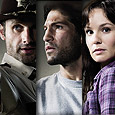 Andrew Lincoln, Jon Bernthal, and Sarah Wayne Callies