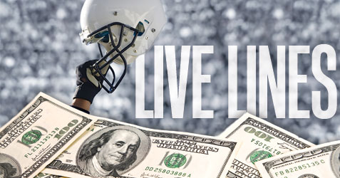 Live Lines, betting lines, live odds, football lines, sports betting odds