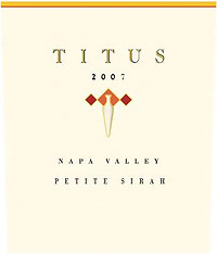 Titus Vineyards 2007 Petite  Sirah