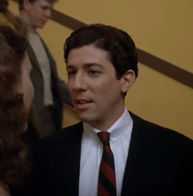 Peter Riegert as Boone in Animal House talking to Katy in stairwell