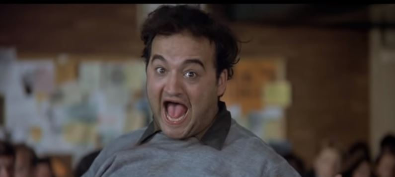 John Belushi as Bluto in Animal House yelling food fight