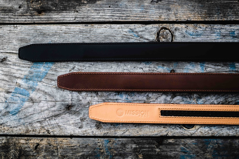 Mission belt leather belts in three colors