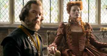 "Margot Robbin and Guy Pearce in ""Mary Queen of Scots"""