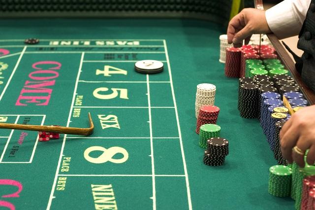 craps table in casino