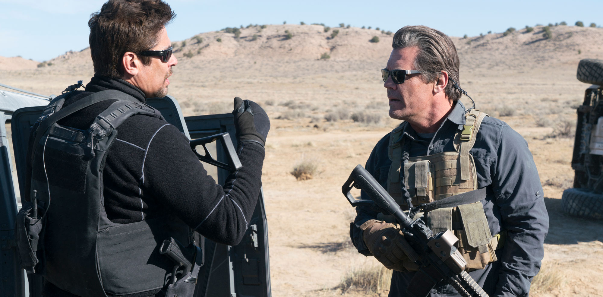 "Benicio Del Toro and Josh Brolin in ""Sicario: Day of the Soldado"""