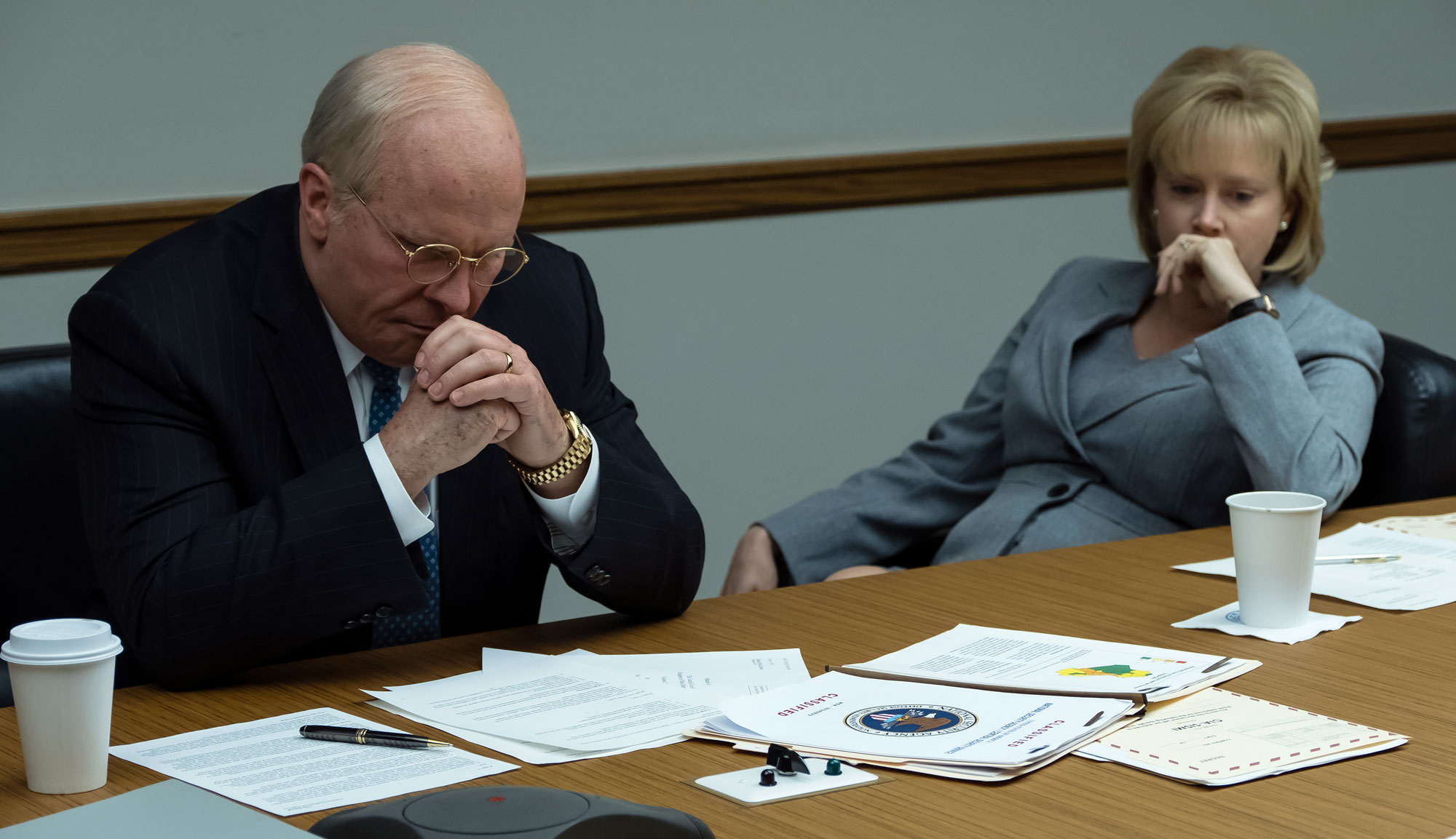 "Christian Bale and Amy Adams in ""Vice"""