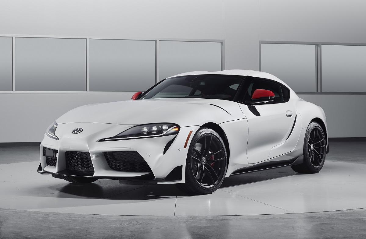 2020 Toyota Supra white front view