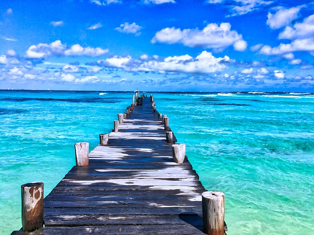 beach and pier in mexico