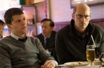 "Jesse Eisenberg and Alexander Skarsgård in ""The Hummingbird Project"""