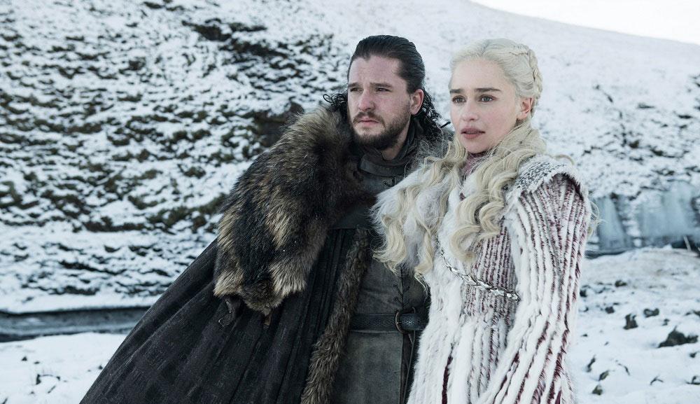 "Kit Harington and Emilia Clarke in ""Game of Thrones"""
