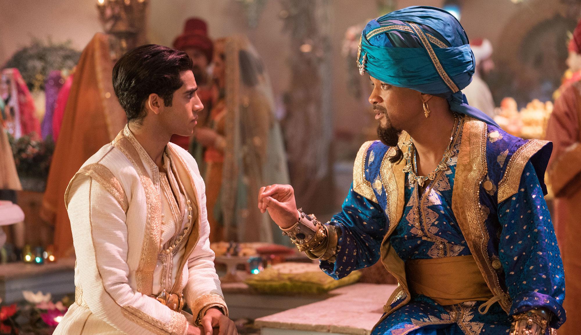 "Mena Massoud and Will Smith in ""Aladdin"""
