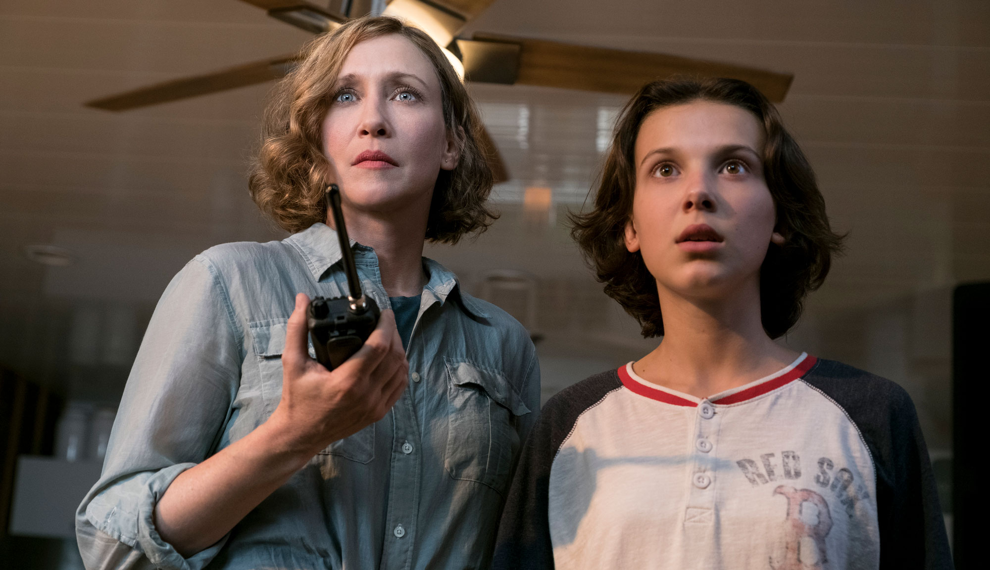 "Vera Farmiga and Millie Bobby Brown in ""Godzilla: King of the Monsters"""