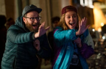 "Seth Rogen and Charlize Theron in ""Long Shot"""