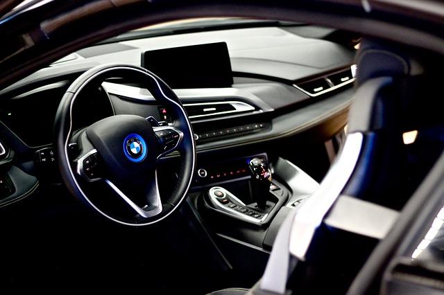 car dashboard and steering wheeel