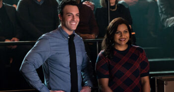 "Mindy Kaling and Reid Scott in ""Late Night"""
