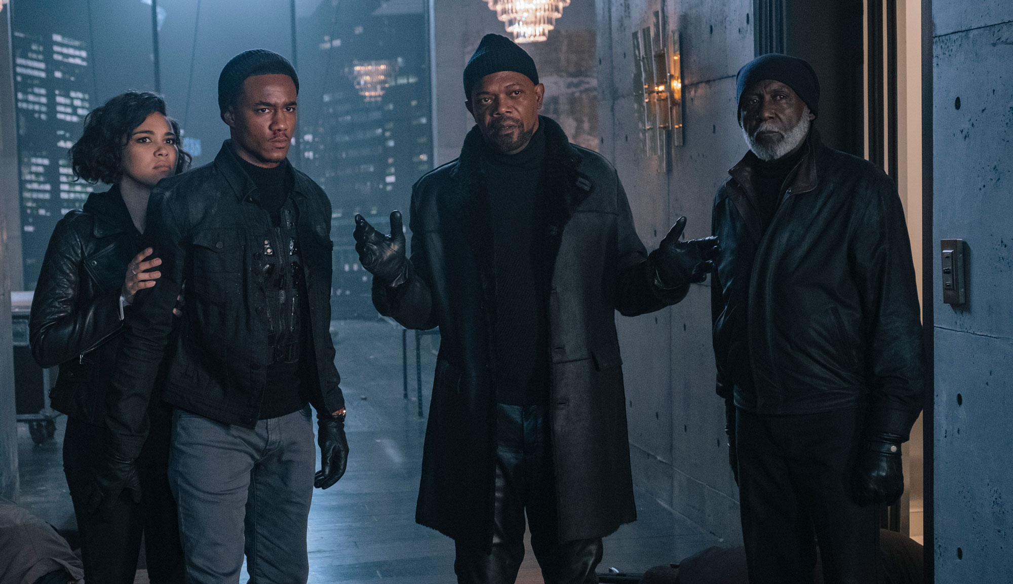 "Samuel L. Jackson, Jessie T. Usher and Richard Roundtree in ""Shaft"""