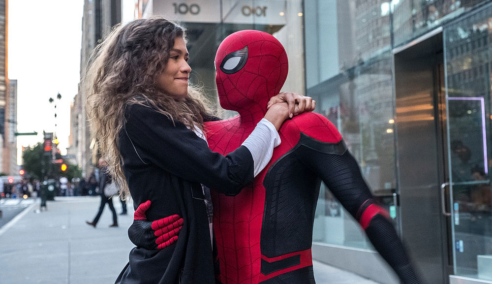 "Tom Holland and Zendaya in ""Spider-Man: Far From Home"""