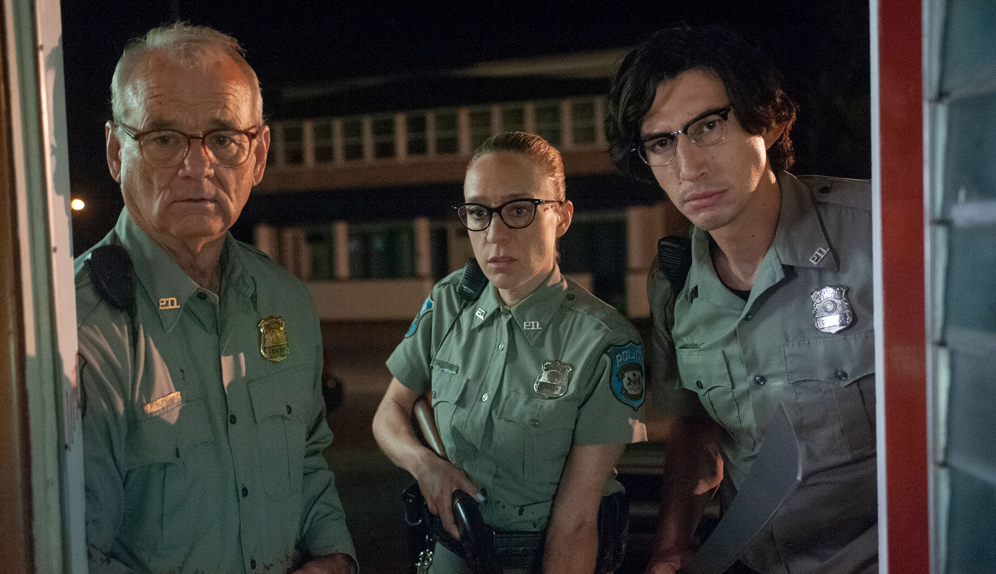 "Bill Murray, Chloë Sevigny and Adam Driver in ""The Dead Don't Die"""