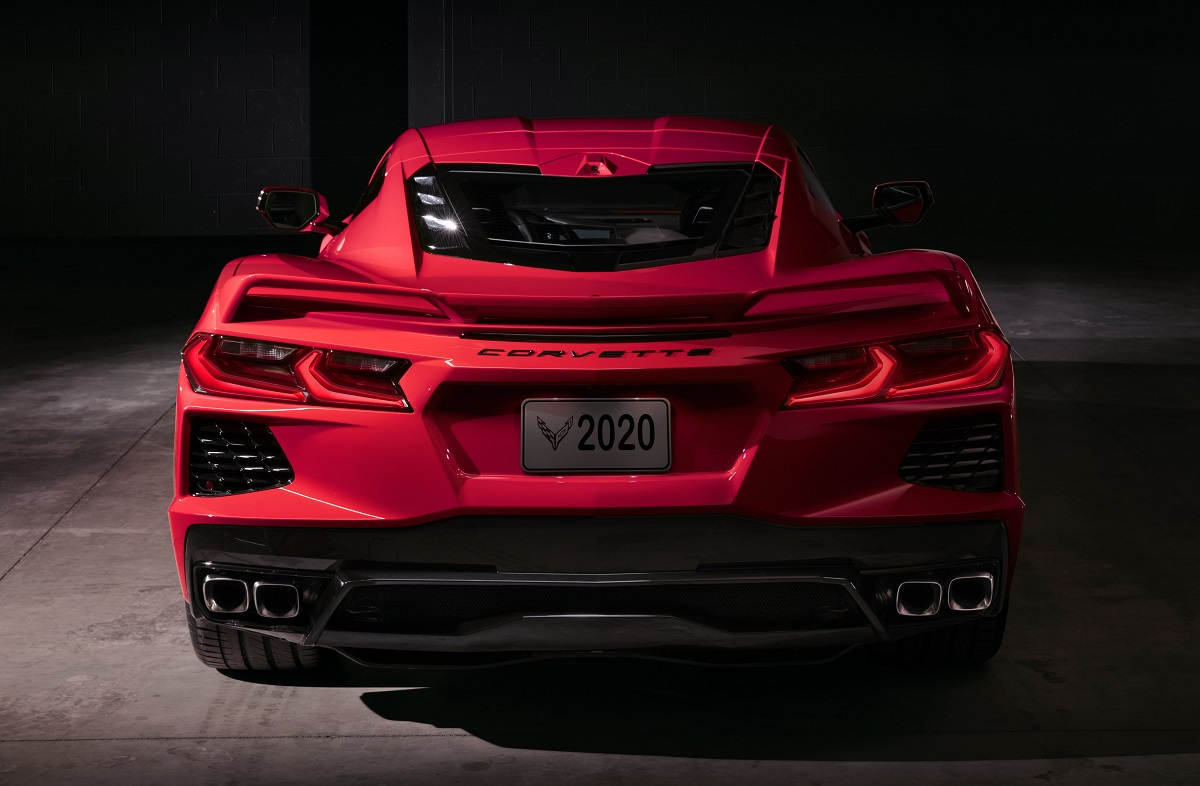 rear view of 2020 Chevrolet Corvette Stingray