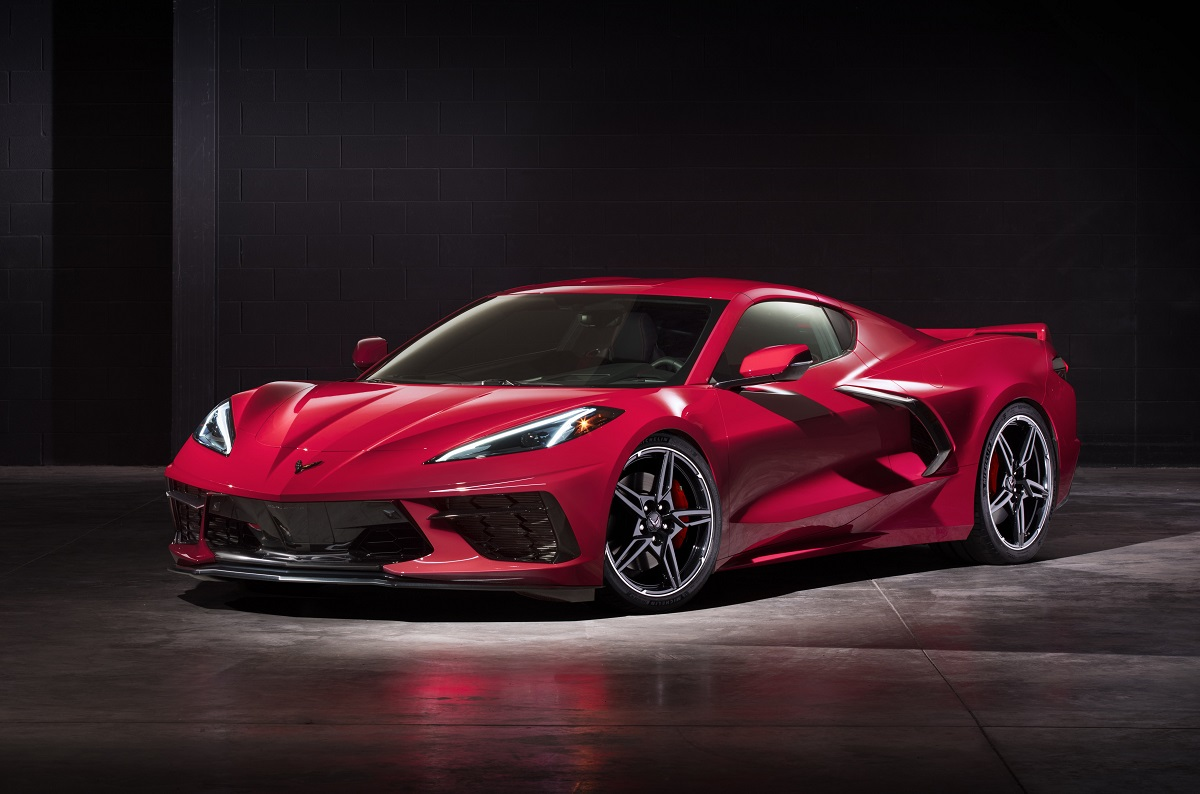 red 2020 Corvette Stingray mid engine