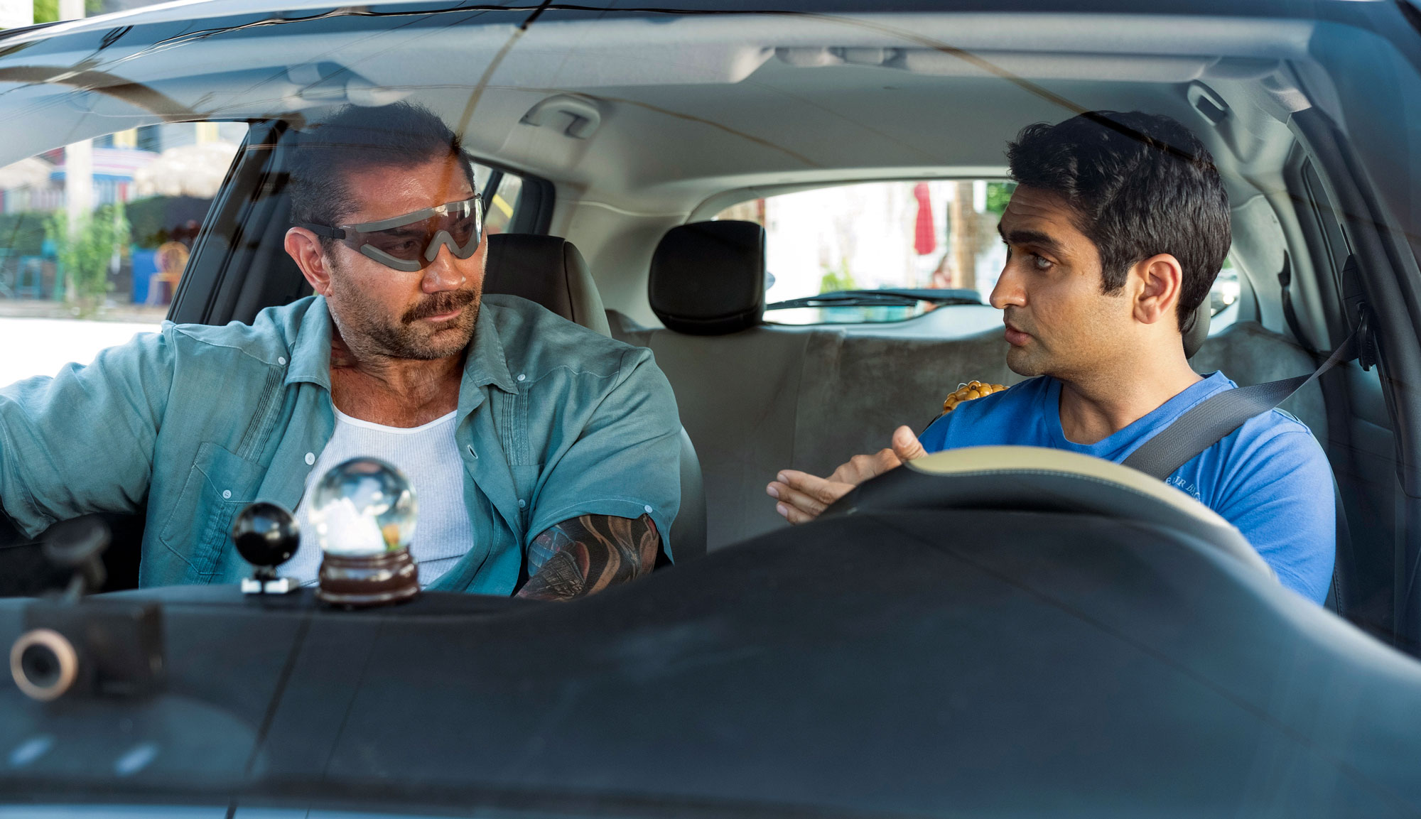 "Dave Bautista and Kumail Nanjiani in ""Stuber"""