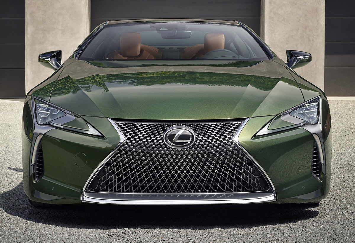 2020 Lexus LC 500 Inspiration Series in Nori Green front view